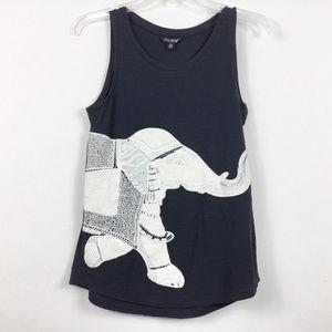 Lucky Brand Embroidered Elephant Karma Tank Top
